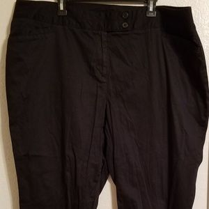 Lane Bryant Black Capris